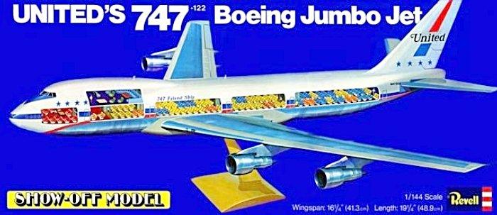 etant fan davion comme moi il ma demand de monter ce kit de 747 qui tait sous la forme de ce boitage un trs vieux kit