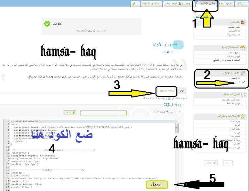 كود وطريقة اضافة الخط Arabic Kufi الكوفي للموقعك(hamsa-haq)  A10