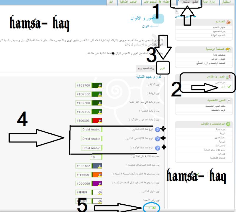 كود وطريقة اضافة الخط Arabic Kufi الكوفي للموقعك(hamsa-haq)  L10
