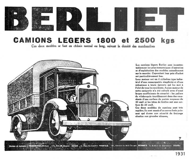 Pub , catalogues et livres sur BERLIET Berlie17