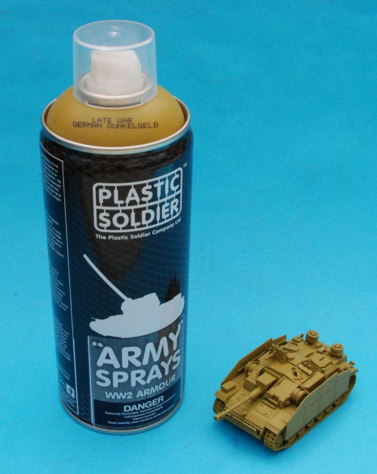 couleur dunkelgelb panzer en vallejo Plasti10