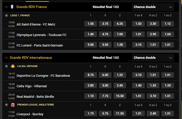 Grands RDV internationaux et Français de Football du 12/03     Bwin10