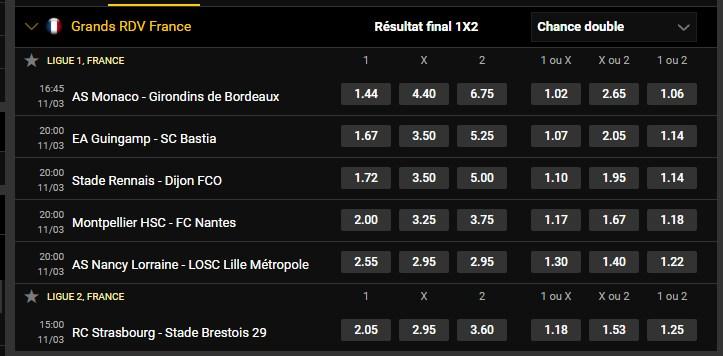 Grands RDV internationaux et Français de Football du 11/03   Pmu111