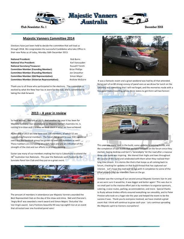 Majestic Vanners Newsletter No.1 December 2013 Mv_new14