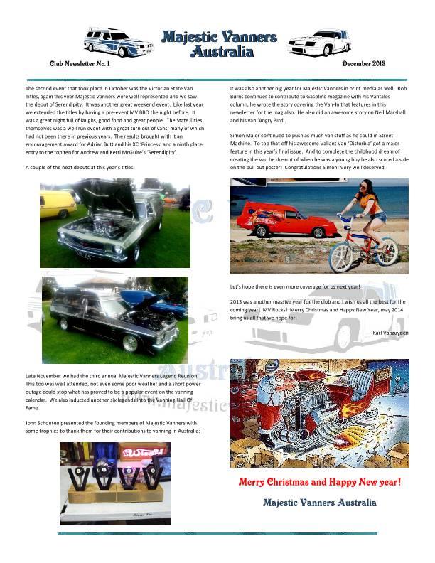 Majestic Vanners Newsletter No.1 December 2013 Mv_new15