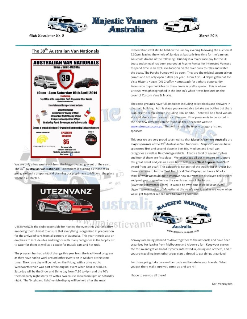 Majestic Vanners Newsletter No.2 March 2014 Mv_new19