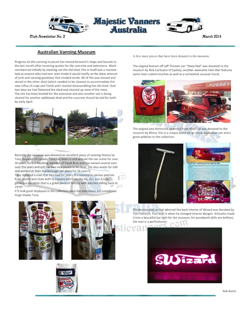 Majestic Vanners Newsletter No.2 March 2014 Mv_new20