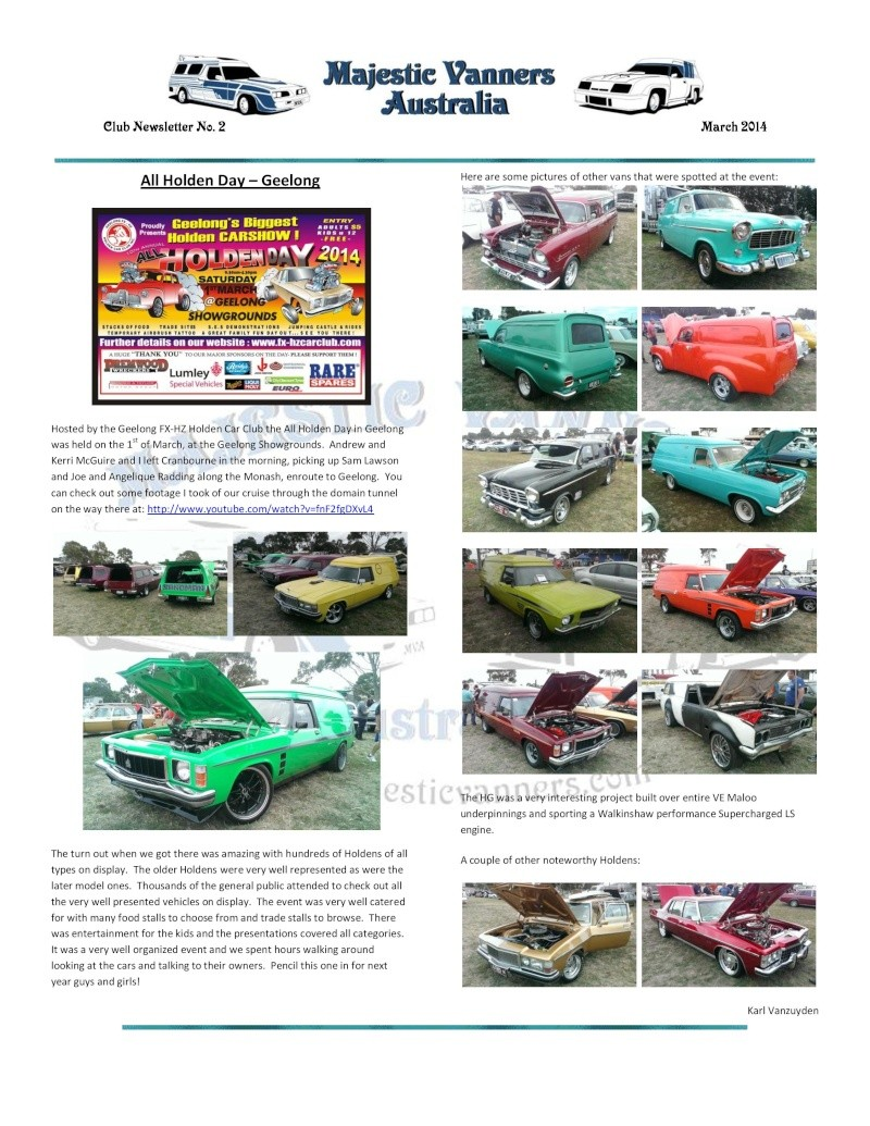 Majestic Vanners Newsletter No.2 March 2014 Mv_new21