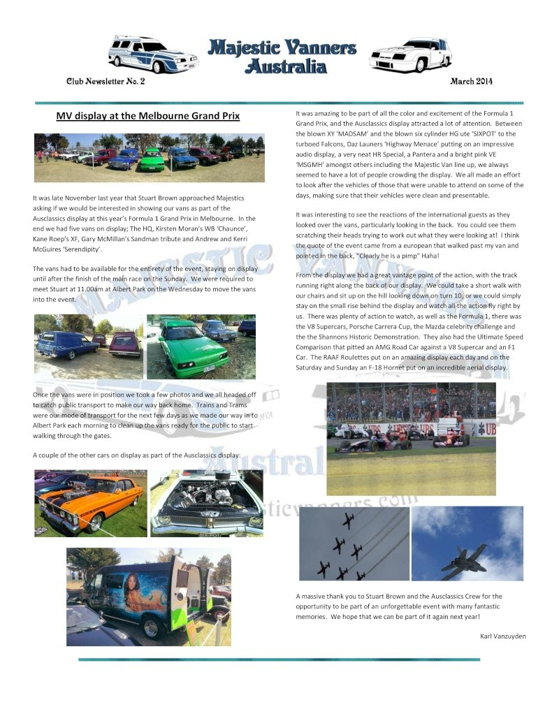 Majestic Vanners Newsletter No.2 March 2014 Mv_new22