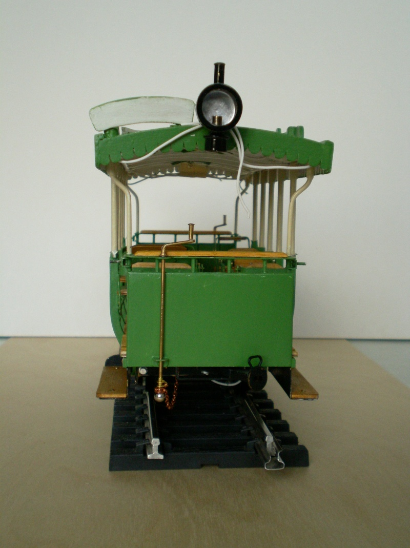 Straßenbahntriebwagen mit Sommerwagen entsteht Maßstab 1:24 Bild2510