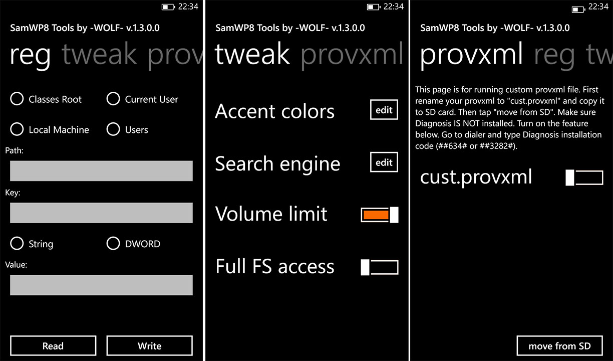 [APPLICATION WINDOWSPHONE 8.X - SAMWP8 TOOLS] Outils système pour Samsung [Xap] Samwp810