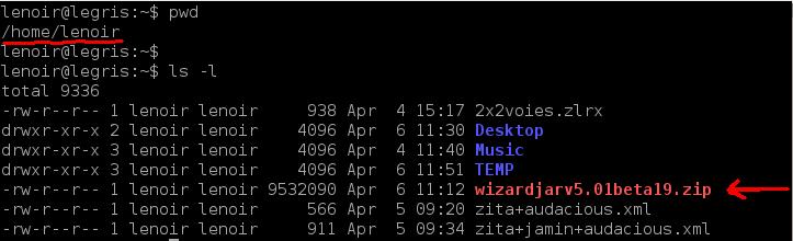 Installation de REW sur Linux/Debian 01-ls-12