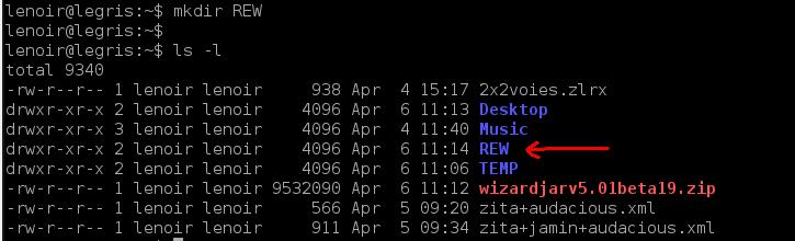 Installation de REW sur Linux/Debian 02-mkd10