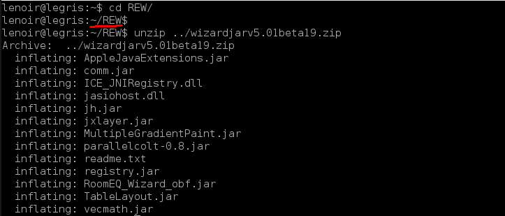 Installation de REW sur Linux/Debian 03-unz11