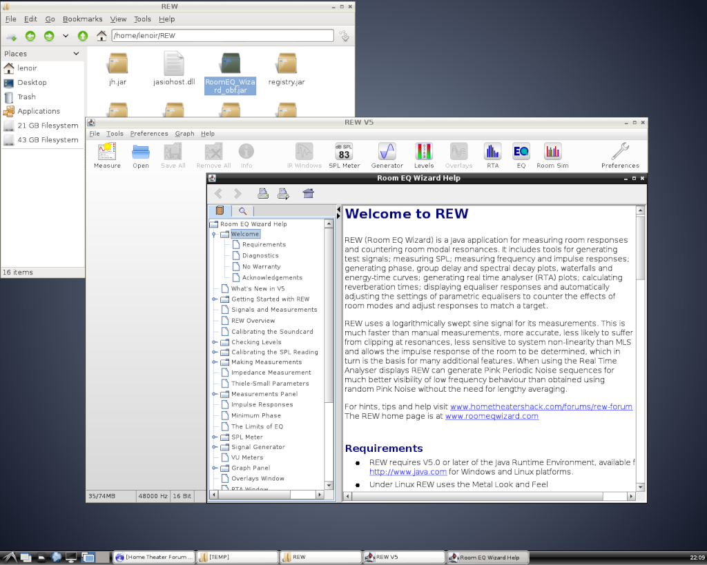 Installation de REW sur Linux/Debian 03c-st11