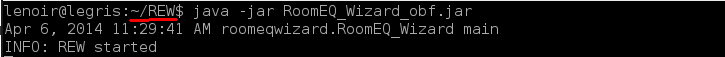 Installation de REW sur Linux/Debian 04-jav10