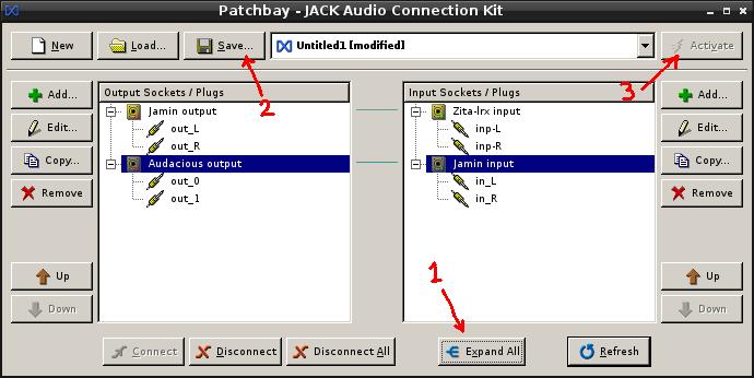 Install Jack + Zita-lrx + Jamin + Audacious sur Linux/Debian 10-sav10