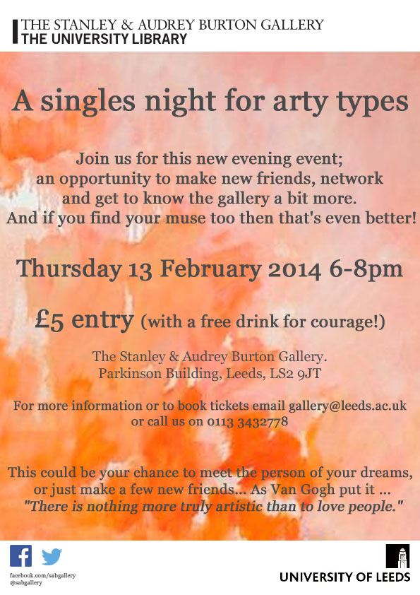 A Singles Night for Arty Types Poster10