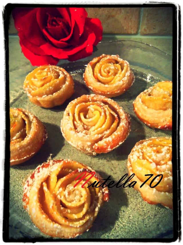 Rose feuilletée aux pommes Hh11
