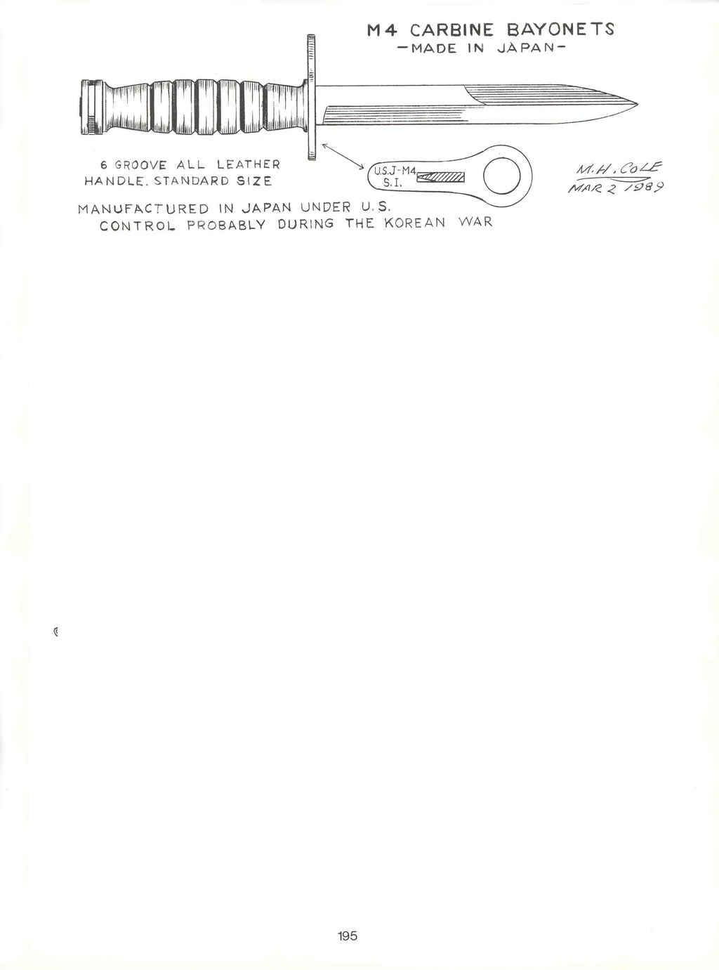 Le poignard-baïonnette USM4 - Page 10 19510
