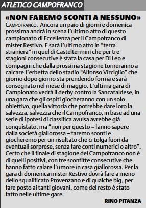 Campionato 30°giornata: atl. campofranco - Sancataldese 2-3 Campof10