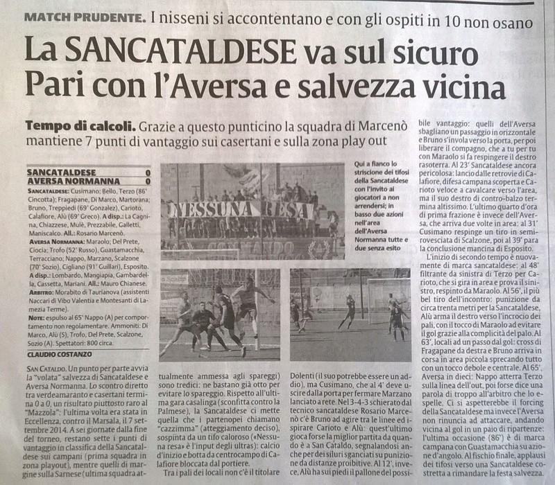 Campionato 28°giornata: SANCATALDESE - aversa normanna 0-0 Img-2019