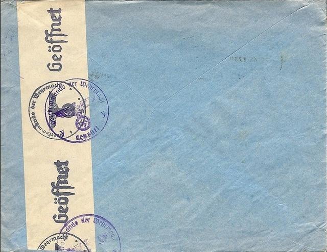 Courrier intérieur contrôlé par la commission allemande de Bordeaux  Bordea12