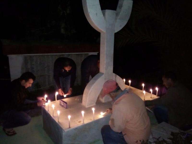 Hommage à Saidi Akli, Recueillement sur sa tombe le 20 Avril 2017 à Aokas. 614