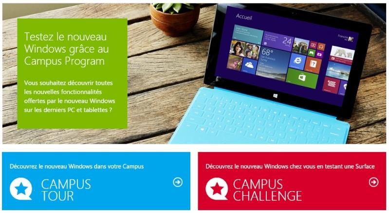 """Microsoft relance son opération """"Try and Like"""" qui se nomme désormais """"Campus Challenge"""" Captur18"""