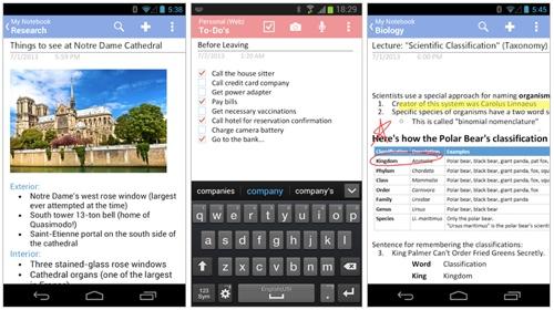 OneNote pour Android mis à jour : partage, raccourcis, widgets, multi-fenêtres et correction Micros13