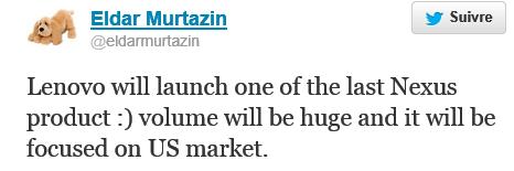Le futur  Nexus 6 pourrait être fait par Lenovo ? Murtaz11