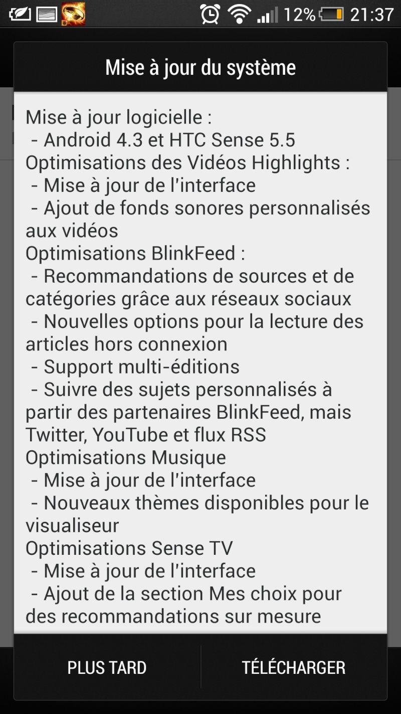 Mise à jour du HTC Butterfly S vers Android 4.3 et Sense 5.5 Screen10