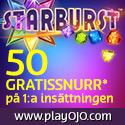 PlayOJO Casino 50 Free Spins Bonus ingen förskottsbetalning