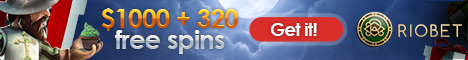 Riobet Casino €/$1000 Bonus + 300 Free Spins  Riobet10