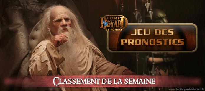 [RÉSULTATS] Classement hebdo après l'émission 6 du samedi 12/08/2017 Pronos13