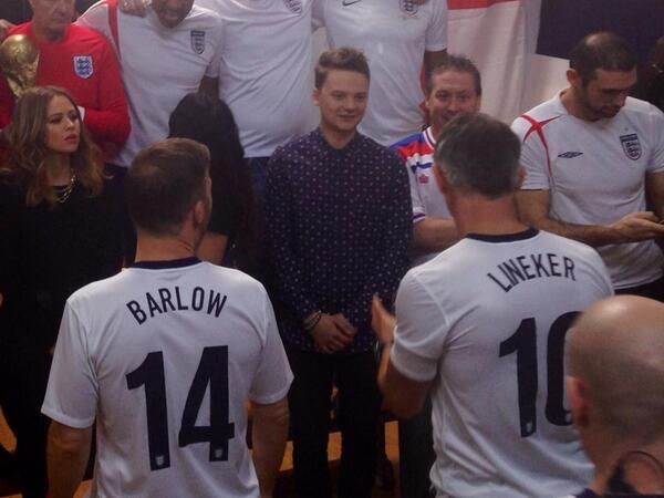 Enregistrement de England's official FIFA World Cup song 128