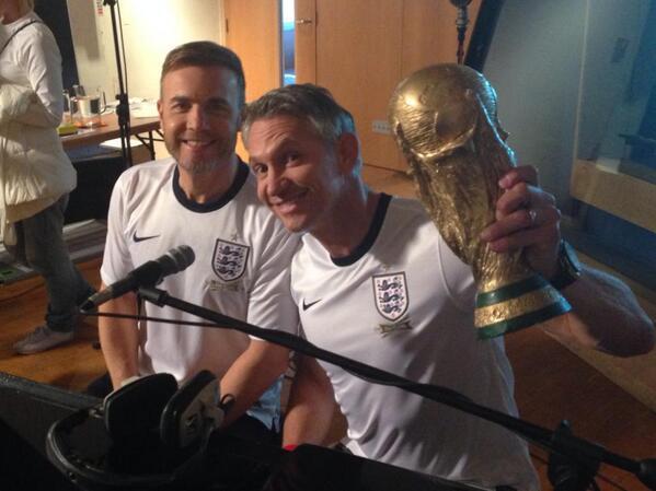 Enregistrement de England's official FIFA World Cup song 130