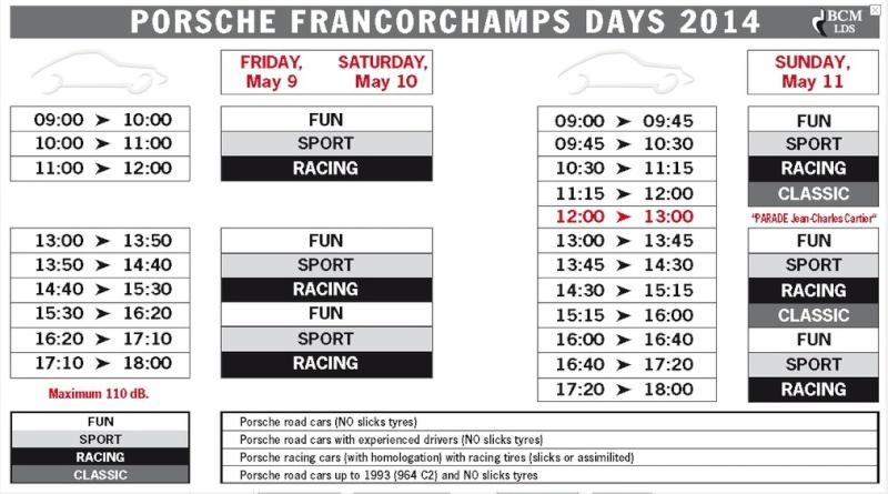 Porsche Francorchamps Days 2014 : 9, 10 & 11 mai - Page 2 Porsch10