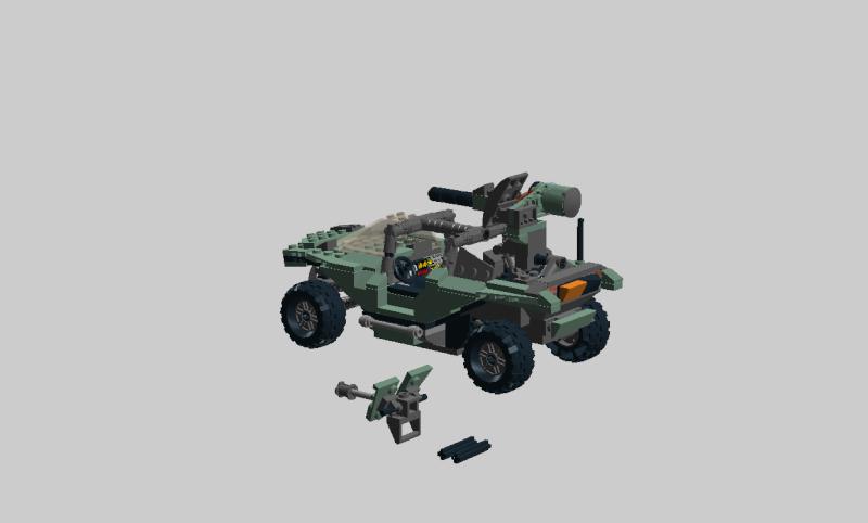 Warthog Halo 4 lego Wartho27