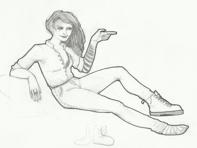 Madame qui a besoin d'aide avec ses pieds et tout lereste !! [noony4] 00117