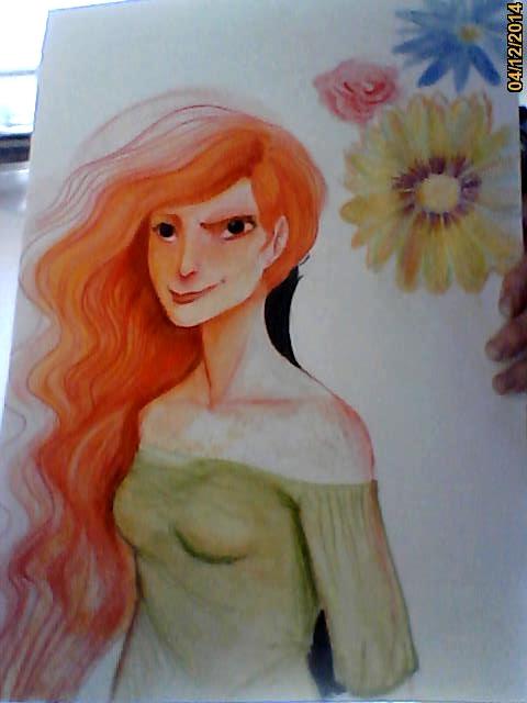 maame rousse entourée de fleurs [noony4] Image220