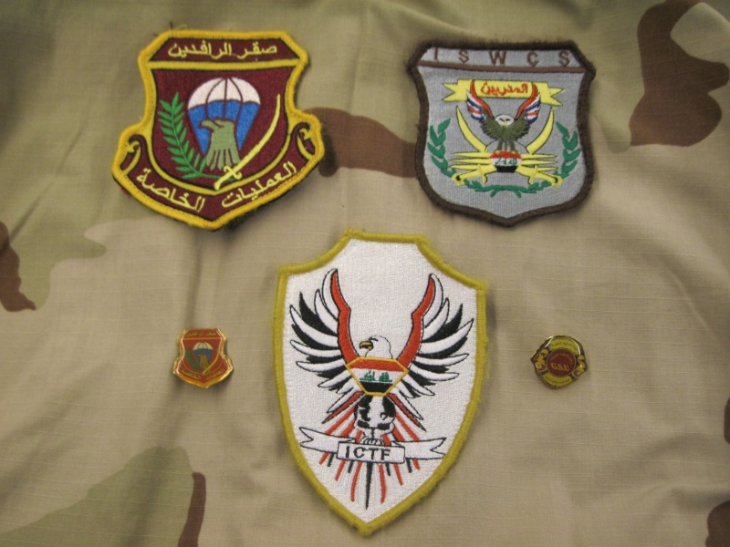 Iraqi ICTF and ISWCS patches and some pins Img_0510