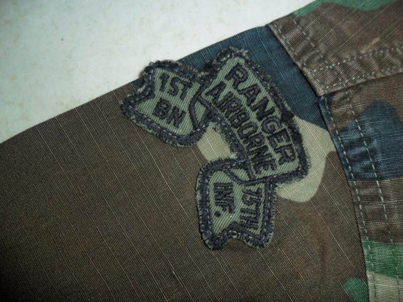 Named BDU Shirt * 1st Ranger Battalion w/ Gold Star Jump Wings Sam_1320