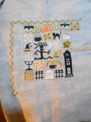 SAL Patchwork Halloween de Jardin Privé - FINI - Page 8 0910