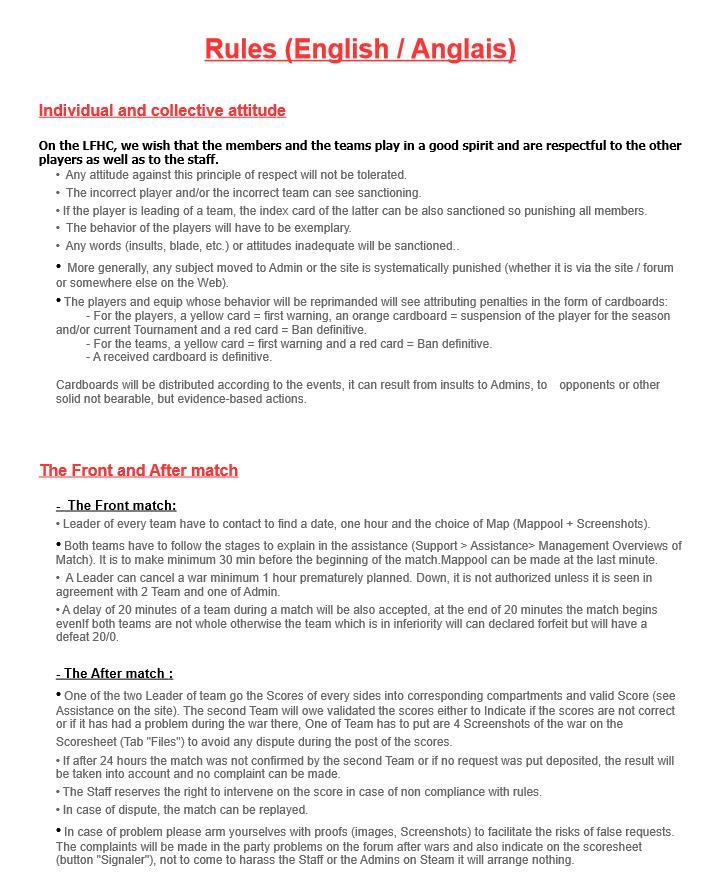 Rules (English/Anglais) En110