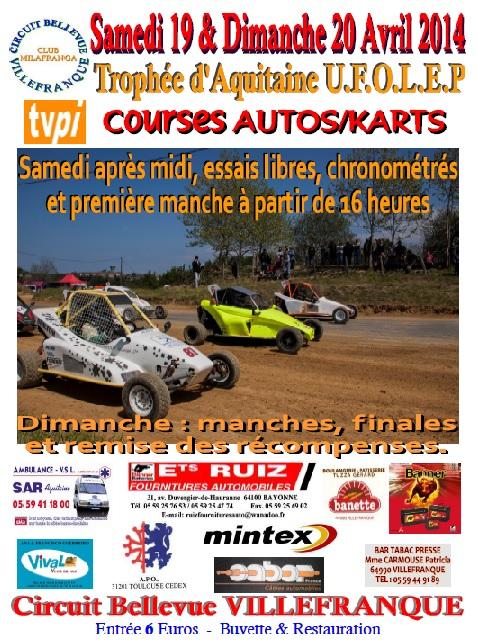 COURSE KARTCROSS/AUTOCROSS à VILLEFRANQUE 19-20 avril 2014 Affich12