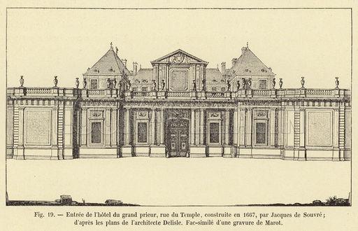 temple - L'Hôtel du Grand Prieur au Temple, chez le comte d'Artois M1672810