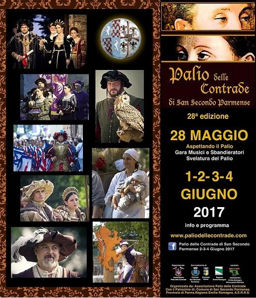 Palio delle Contrade San Secondo Parmense 28° edizione 28/05 -1-2-3-4/06/2017 Locand11