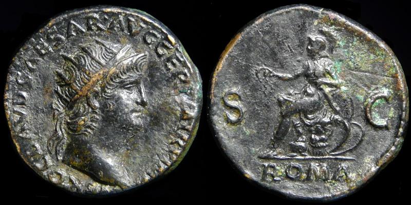 Un Sesterce de Néron frappé à Lyon 0070-310