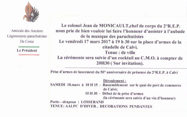 50ème anniversaire de l'arrivée du 2ème REP à Calvi Captur10